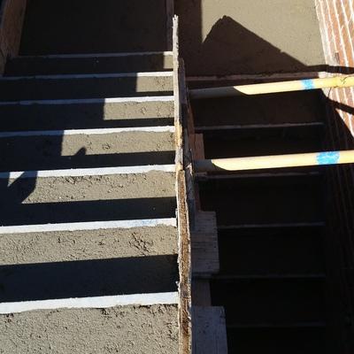Escaleras encofradas