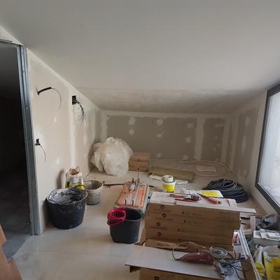 Cuarto de baño en construcción