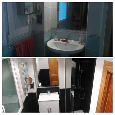 Antes y después Reforma parcial baño