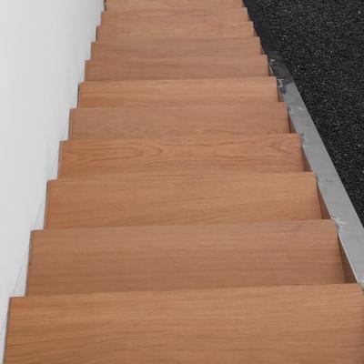 Cconstruccion escalera acero inox madera