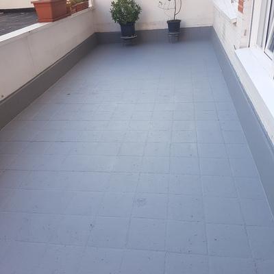Impermeabilizacion de pavimento de terraza