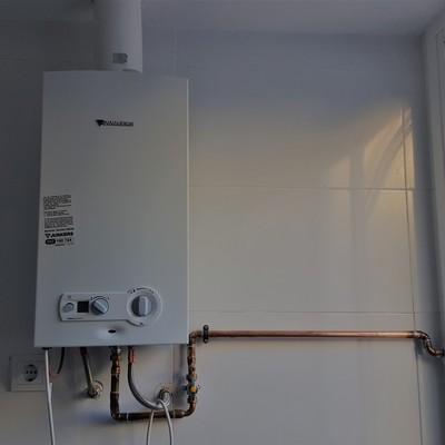 Instalación de calentador a gas
