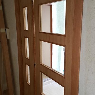 puerta doble comedor cristalera