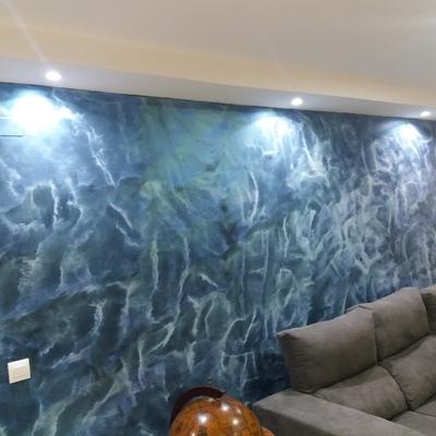 pared decorativa con buena iluminacion