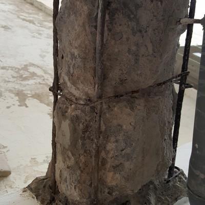 Resanado de pilares con enfermedas de aluminosis A1124