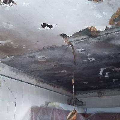 demolición techo