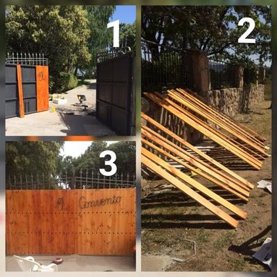 Trabajo de restauracion en madera