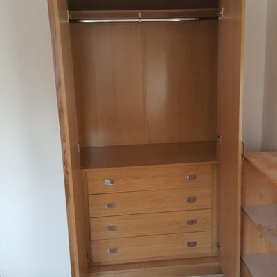 interior armario empotrado roble