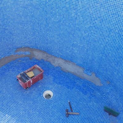 Reparacion media caña en piscina de hormigon