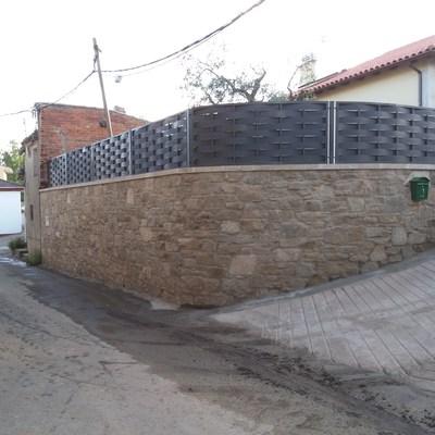 Pared de piedra natural ,vallado