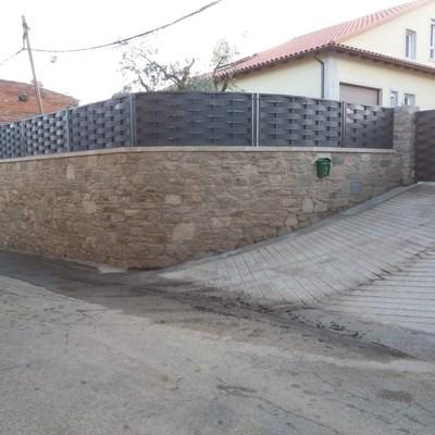 Vallado de piedra natural