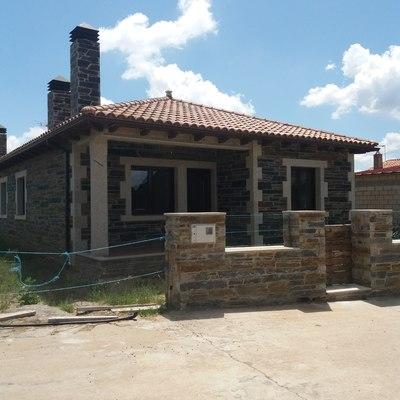 Casa con piedra natural