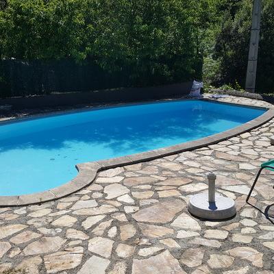 Acondicionamiento zona piscina , La fresneda.