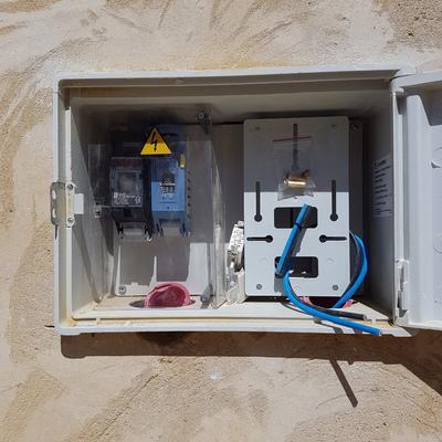 Instalacion de caja de contador electrico