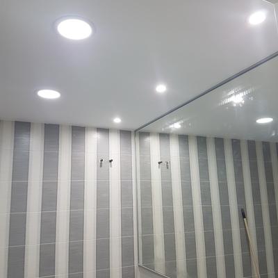 Instalacion de iluminacion led en aseo