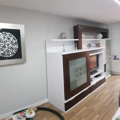 Mueble lacado en blanco