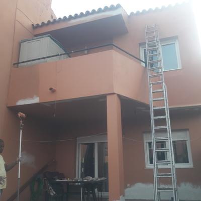 Antes: arreglo de grietas en fachada