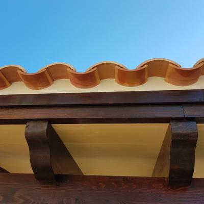 Acabado en colocar tejas