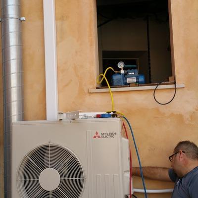 Instalación máquina 6000fgh  conductos  + 3000fgh conductos