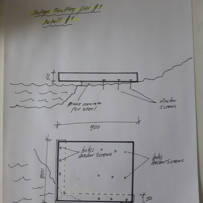 Diseño solución constructiva de puente peatonal sobre río.