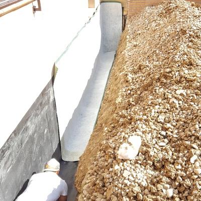 Impermeabilización de muros con lámina de caucho (EPDM)