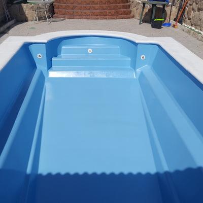 Pintura piscina prefabricada- Trabajo terminado