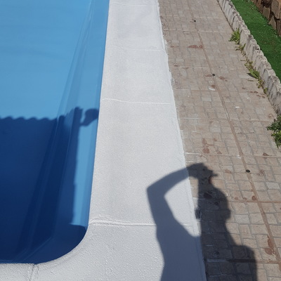 Piedra coronacion piscina - Trabajo terminado