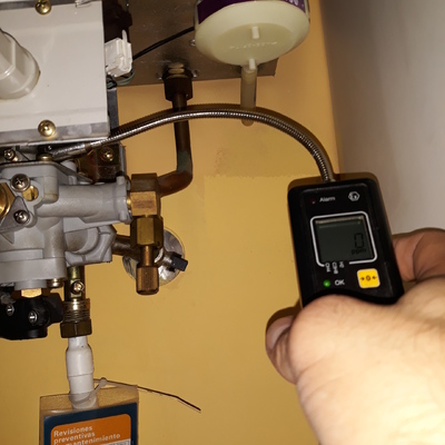 Calentador Junkers detector de gas