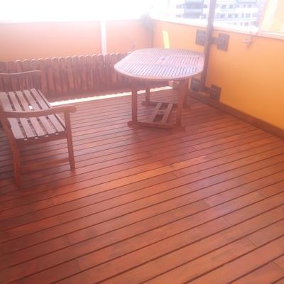 Restaurando tarima y mobiliario de exterior
