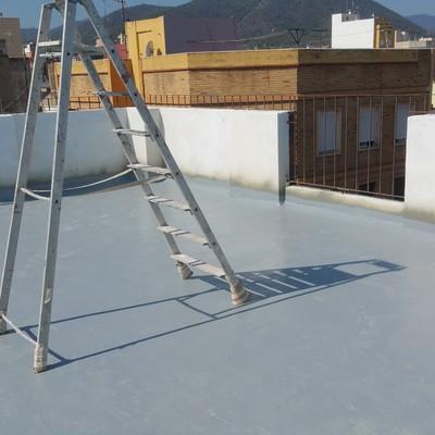 Terraza impermeabilizado con poliurea ...totalmente transitable.