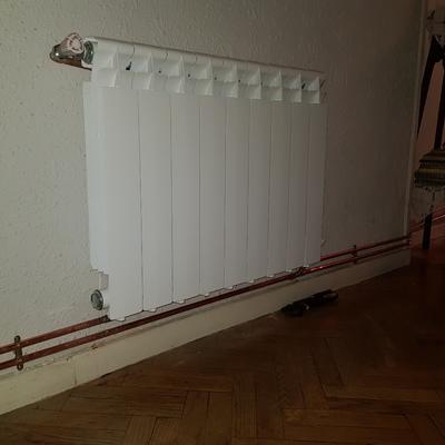 Radiador en instalacion