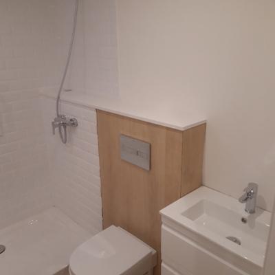 Formación baño en estancia pequeña