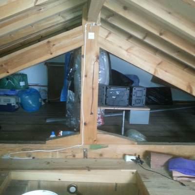 construccion de cubierta, cumbrera olivas y panel