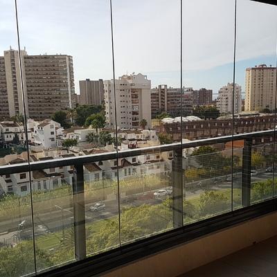 Cortina cristal templado en San Juan Playa