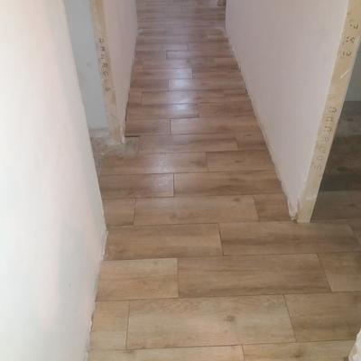 suelo nuevo quitar qotele dejar pared liso y pintar