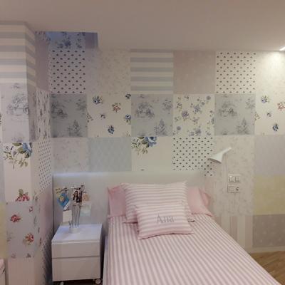Habitacion juvenil en papel pintado
