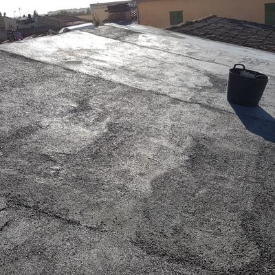Solera e impermeabilización de tejado