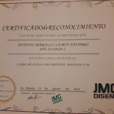 Certificador de aplicador resina epoxi
