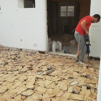 Demolición de terraza