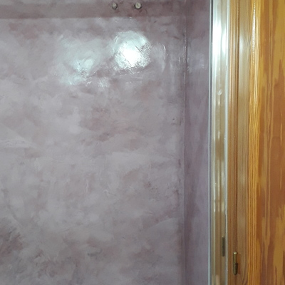 Zona de ducha en microcemento