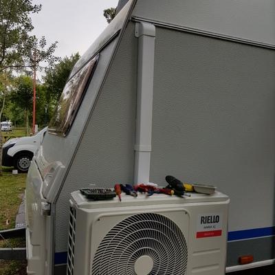Instalación de aire acondicionado en caravana (fija)
