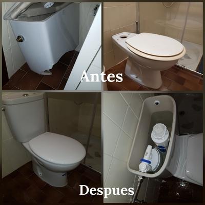 Sustitución de tanque y cisterna de wc