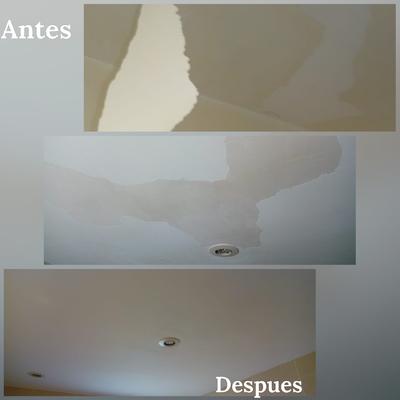 Restauración de techos afectados por humedad.