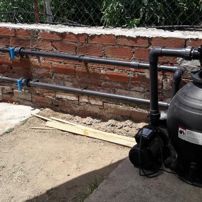 Depuradora de piscina con bomba de agua