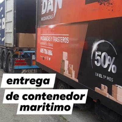 Entrega de contenedor marítimo
