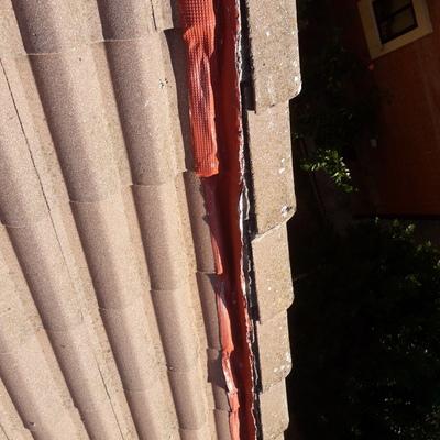 Reparación de los remates laterales