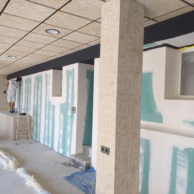 Impermeabilizar pared de un garaje y arreglartecho de plascas registrables.