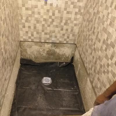 Plato de ducha de obra el antes