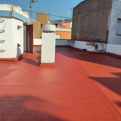 Impermeabilización  en cubierta de edificio