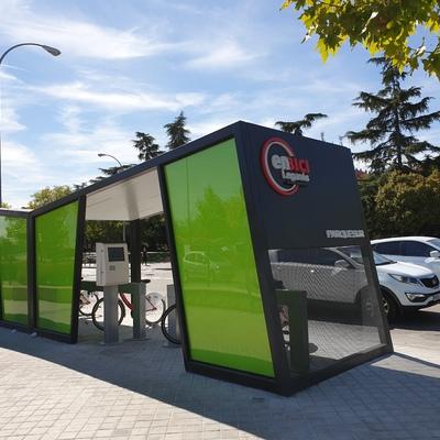 Estación de bicicletas eléctricas